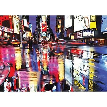 New York Times Square Color Poster Poster Print