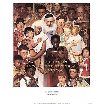 Do Unto Others Poster Print by Norman Rockwell (12 x 15)