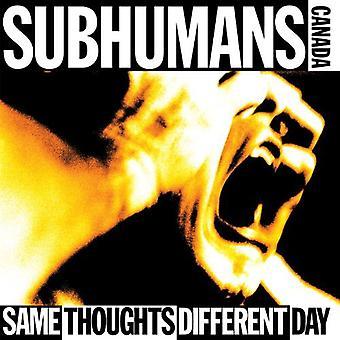 Tysk: Untermensch - samme tanker forskellige dag [CD] USA importerer
