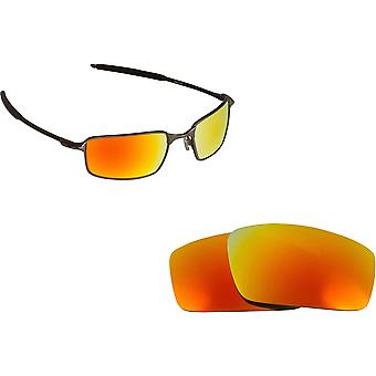 Best SEEK Replacement Lenses for Oakley SQUARE WIRE (2006) Brown Yellow Mirror