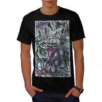 Serpenti selvatici BlackT-camicia uomo | Wellcoda