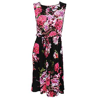 Damen/Ladies Rose und Heather drucken ärmellose Sommerkleid