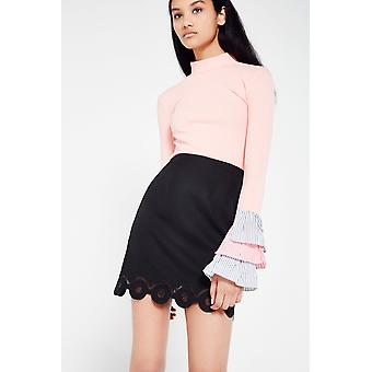 AME Mini Skirt With Scallop Hem