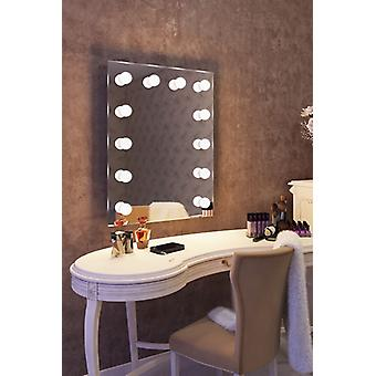 Diamond X Wallmount Hollywood Makeup Mirror with Dimmable LED k90LED