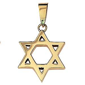 9ct Gold 24x21mm plain Star of David pendant