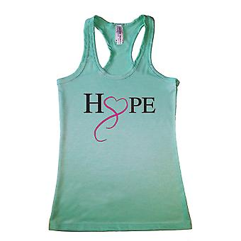 Women's HOPE & LOVE Breast Cancer Awareness Racerback TANK TOP MINT