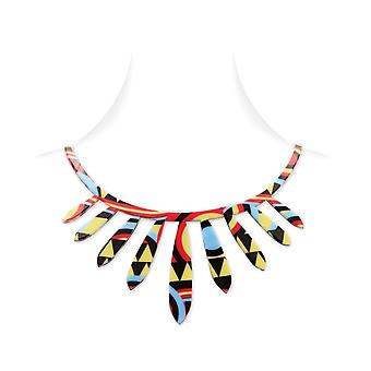 Necklace ethnic Reversible in Silicone Multicolor effect tattoo