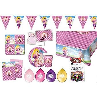 Princess party box 49-teilig decoration package children's birthday party package
