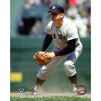 Mickey Mantle 1967 Action Photo Print