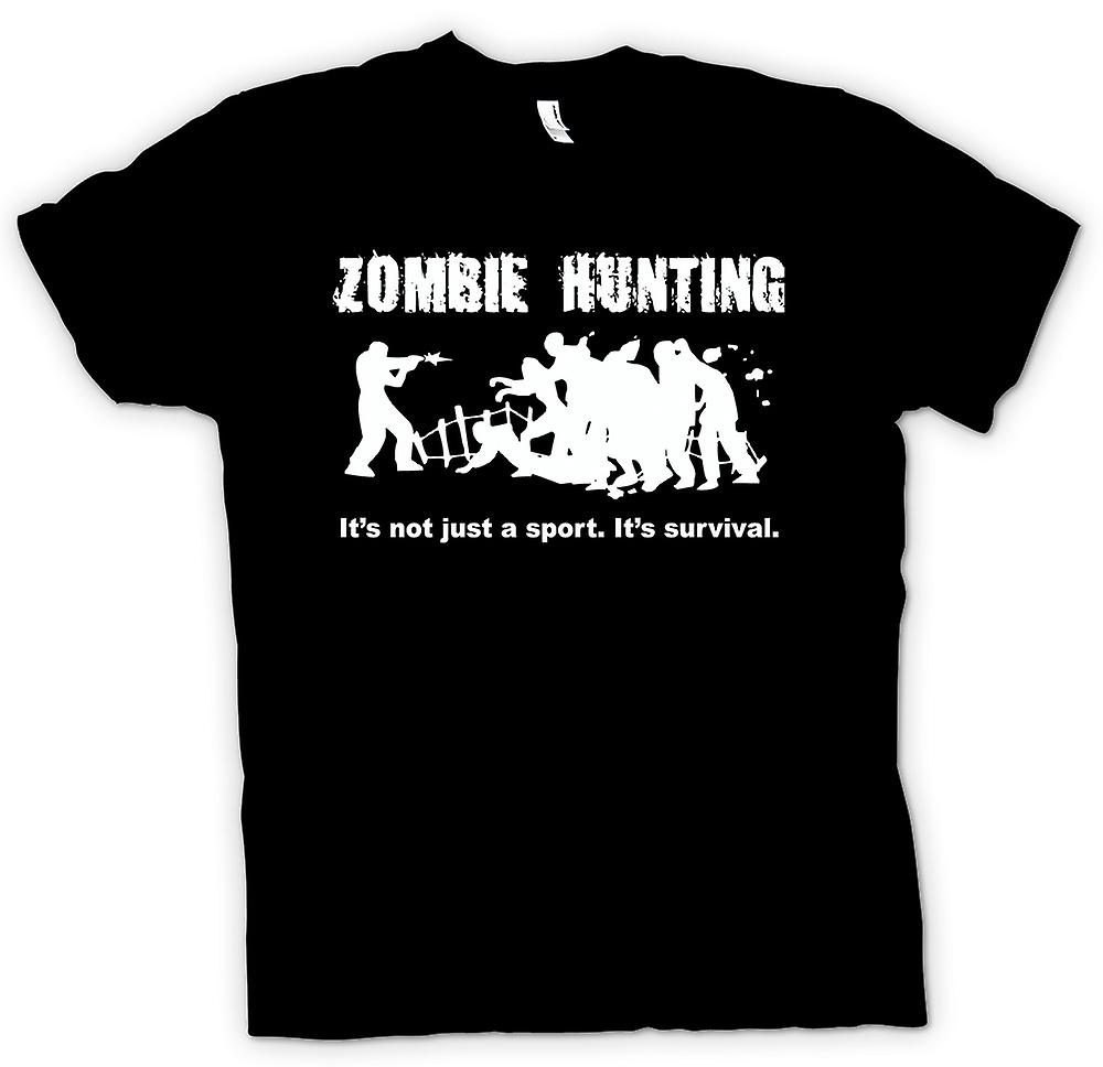 Womens T-shirt - Zombie Hunting Sport - Comedy Horror