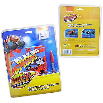 Blaze and The Monster Machines notebook and pen set