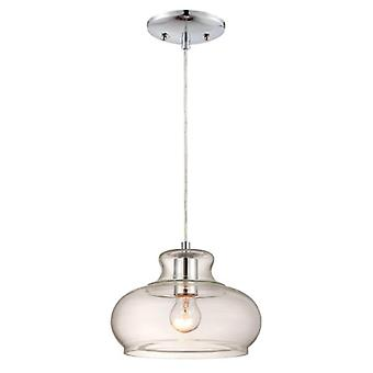 Westinghouse One-Light Pendant chrome and glass