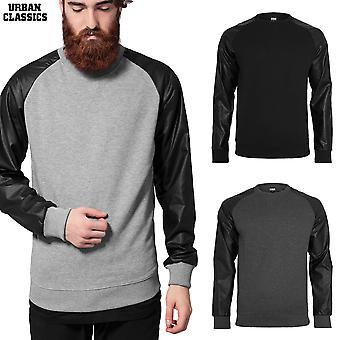 Urban classics sweater Raglan leather imitation