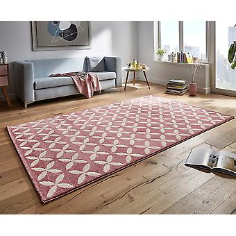Design velour carpet cross pink