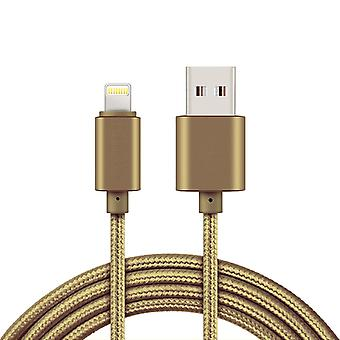 2 m Lightning cable for iPhone/iPad-iOS 11-Gold