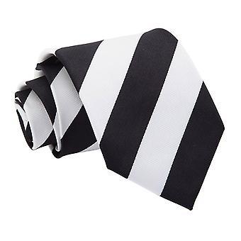 Black & White Striped Classic Tie
