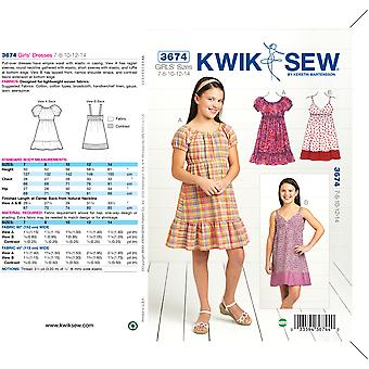Dresses-7-8-10-12-14 -*SEWING PATTERN*