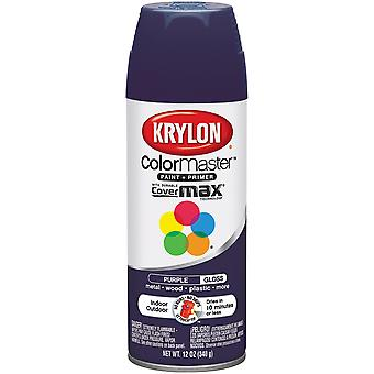 Colormaster Indoor/Outdoor Aerosol Paint 12oz-Gloss Purple