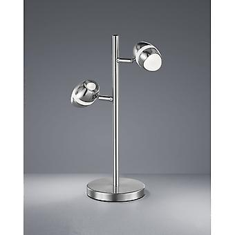 Trio Lighting Shark Modern Nickel Matt Metal Table Lamp