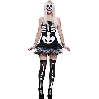 Traje de halloween mulheres trajes Sexy mulher esqueleto