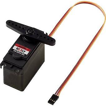 Reely Custom servo DS-8203 MG servo Digital material de caixa de engrenagem: sistema do conector de Metal: JR