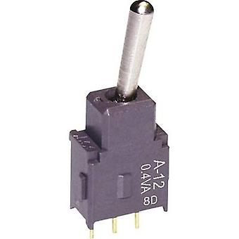 NKK Switches A12AH Toggle switch 28 V DC/AC 0.1 A 1 x On/On latch 1 pc(s)
