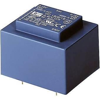 PCB de montaje transformador 1 x 230 V 1 x 12 V AC 3.20 VA 266 mA