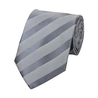 Tie stropdas tie stropdas 8cm grijs zilver gestreept Fabio Farini