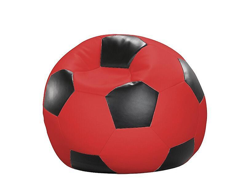 Rot 90 X Sitzsack Fussball Sitzkissen Cm Kunstleder schwarz LGjSpUqzMV
