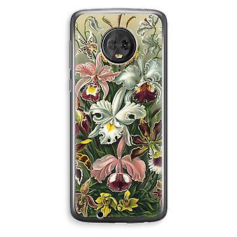 Motorola Moto G6 Plus Transparent Case (Soft) - Haeckel Orchidae