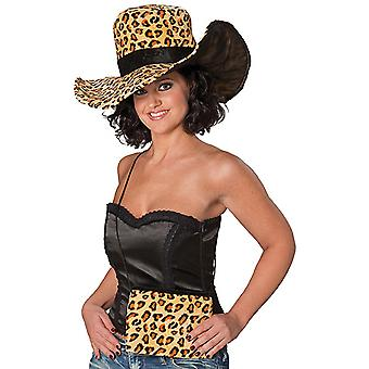 Women's hat bag Leopard pimp Daddy accessories Hat Halloween Carnival