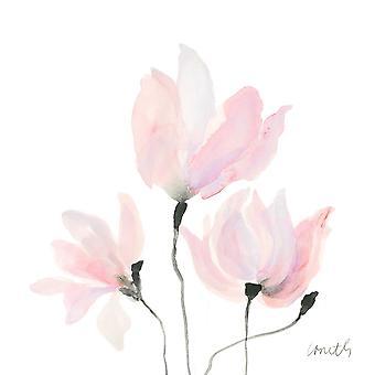 Pastel Floral eu balançar Poster Print by Lanie Loreth