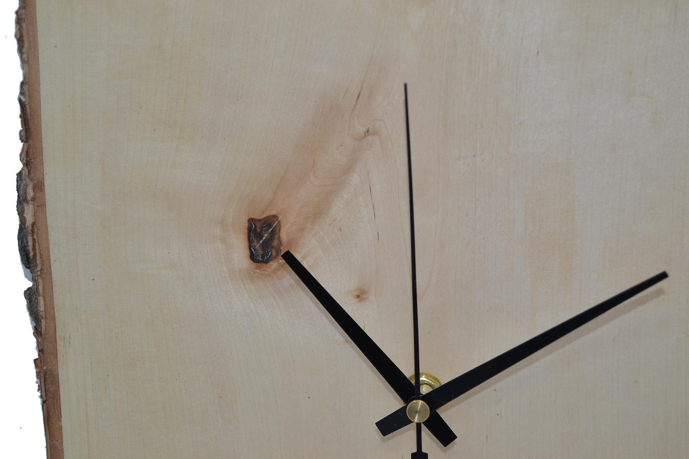 Holz Wanduhr Holzuhr Uhr Birke 26 x 26 cm Made in Austria Uhr Birke Birkenholz Uhr wallclock clock Geschenk Geschenkidee Holzdeko Deko Holzdekoration