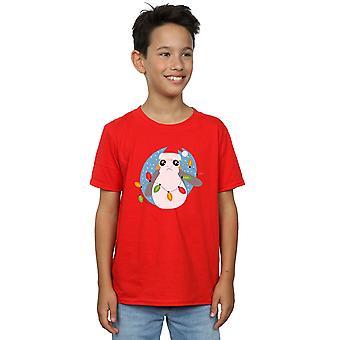 Star Wars Boys The Last Jedi Porg Christmas Lights T-Shirt