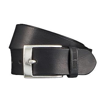 TOM TAILOR belt leather belts men's belts jeans belt black 4349