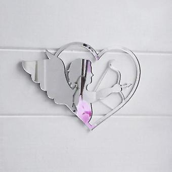 Cupid & Bow in Love Heart Acrylic Mirror