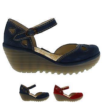 Mujeres volar Londres Yuna ante vacaciones Strappy sandalias de tacón de cuña verano