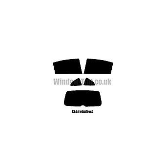 Pre cut window tint - Citroen C4 5-Door Hatchback - 2004 to 2008 - Rear windows