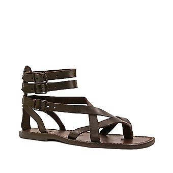 Brown men's gladiator sandals Handmade in Italy