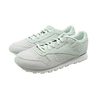 Reebok classic CL LEATHER NBK ladies of sneakers running shoes white Mint leather new