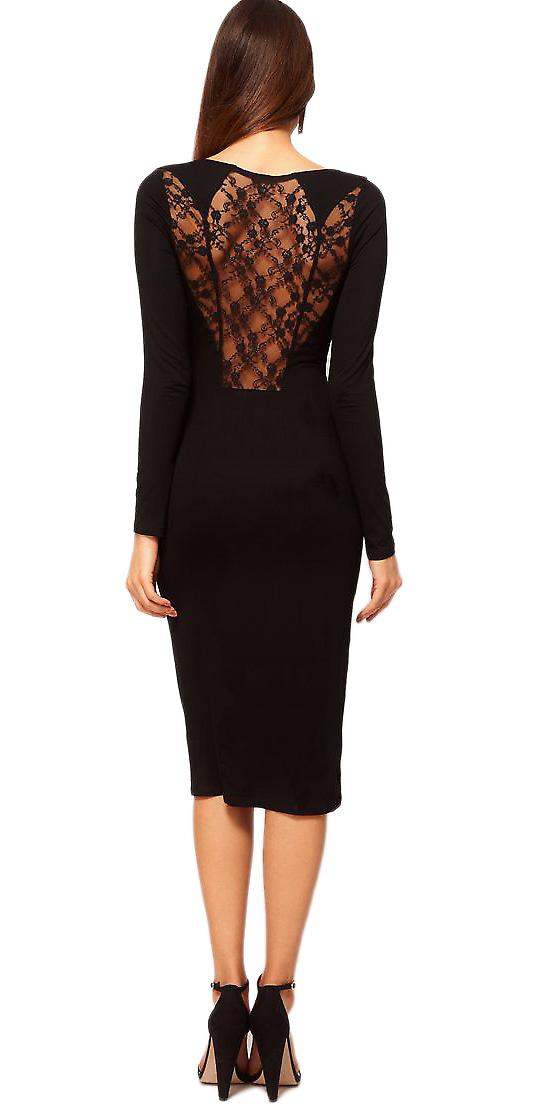 Waooh - Fashion - Slit Dress with Lace