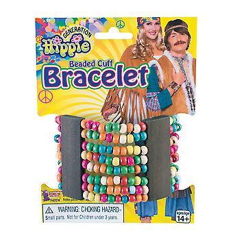 Hippie Perlen Manschette Armband, 60er Jahre Hippie