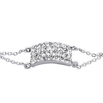Rectangle - 925 Sterling Silver Bracelets de chaîne - W18634X