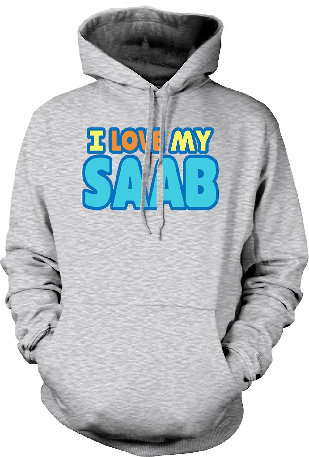 Mens Hoodie - I Love My Saab - Car Enthusiast