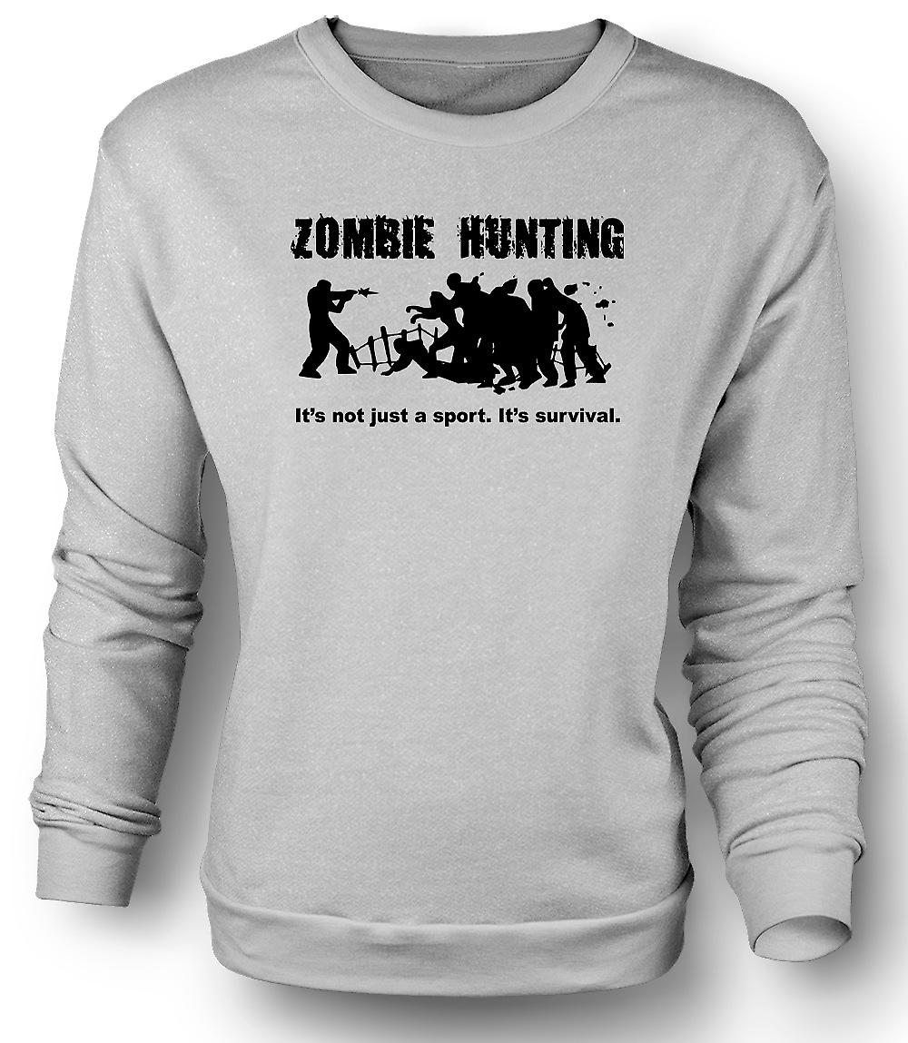 Mens Sweatshirt Zombie Hunting Sport - Comedy Horror