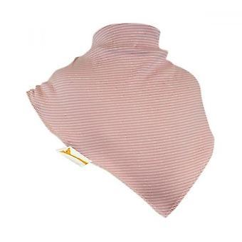 Apricot small stripes xxl bandana bib