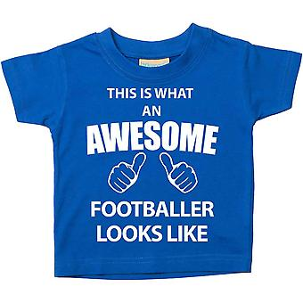 This is What An Awesome Footballer Looks Like Blue Tshirt