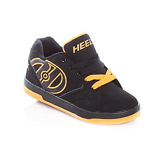 Heelys Black-Orange Propel 2.0 Kids One Wheel Shoe