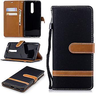 Caso para Nokia 5.1 jeans capa celular capa protetora case preto