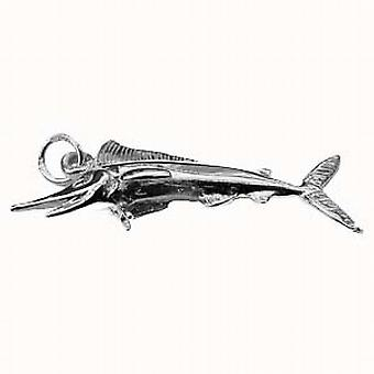 Sterling Silver Solid Charm Sword fish large